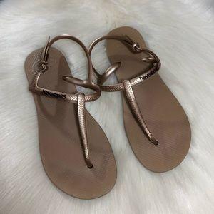 Havaianas Gold Freedom Sandals